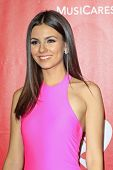 LOS ANGELES - JAN 24: Victoria Justice at the 2014 MusiCares Person Of The Year event at the Convent