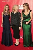 LOS ANGELES - JAN 24: Sherry Goffin Kondor, Carole King, Louise Goffin at the 2014 MusiCares Person