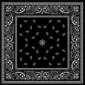 Black Bandana Pattern