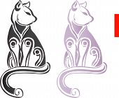 Decorative cat ornament standing on isolate background