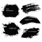 stock photo of paint spray  - Set of grunge vector and ink brushes - JPG