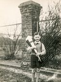 GERMANY, CIRCA FIFTIES - Vintage photo of little boy with