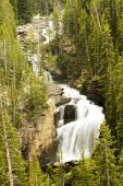 pic of beartooth  - Waterfall along the Beartooth Highway in Wyoming - JPG