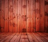 painted old wooden wall. red room