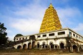 Bodh Gaya Pagoda With Cloud