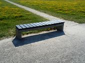 The Bench Near The Footpath In The Field