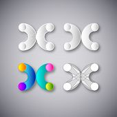 Abstract Vector Combination of Letter X