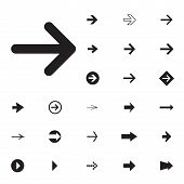 Arrow Sign Vector Icon Set