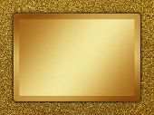 pic of bronze silver gold platinum  - Golden plate on a golden background for web usage - JPG
