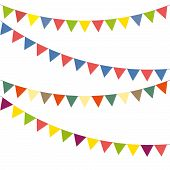 image of swag  - Blank banner bunting or swag templates for scrapbooking parties spring Easter - JPG