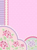 IIlustration Featuring Frilly Corner Borders with a Shabby Chic Design