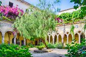 Cloister At San Francesco D'assisi Church In Sorrento, Italy