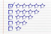 image of performance evaluation  - star chart to evaluate a performance give feedback - JPG