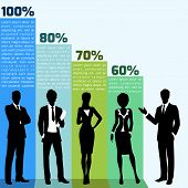 Business people infogrpahics