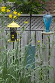 Yellow Bird Feeder and Bath