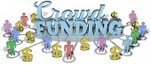 Crowdfunding social people invest in international business startup project