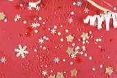 Christmas color background with snowflakes