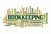 Bookkeeping Word Cloud on White Background