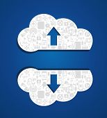 Upload cloud computing