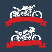 Motorcycle logo set