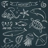 Sealife chalkboard set 1