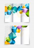 3d cubes brochure design