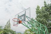 Basketball Hoop Stand At Playground