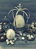 Vintage Easter Decoration. Retro Style Toned