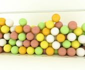 stock photo of gumballs  - Illustration of many gumballs isolated on white background - JPG