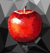Abstract Polygon Background With Apple