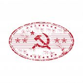 Communist red stamp