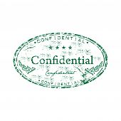 Confidential grunge rubber stamp
