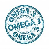 Omega three grunge rubber stamp