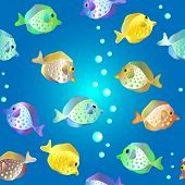 Seamless Pattern With Funny Fish.eps