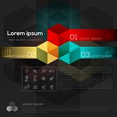 Geometric Cube Shape Abstract Graphic Design Layout