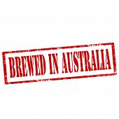 Brewed In Australia-stamp