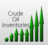 foto of macroeconomics  - Graph illustration showing Crude Oil Inventories growth - JPG