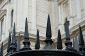 Black cast iron fence