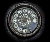 picture of rotary dial telephone  - Old black telephone - JPG