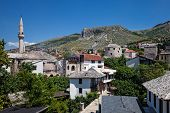 Mosque And Minaret In Mostar.