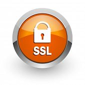 ssl orange glossy web icon