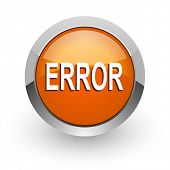 error orange glossy web icon