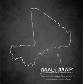 Mali map blackboard chalkboard vector