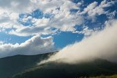Clouds and mist in mountain