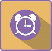 Alarm clock. Flat modern web button