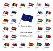 European Union country flags 2014