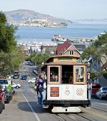 San Francisco - November 2Nd: The Cable Car Tram, November 2Nd, 2012 In San Francisco, Usa. The San