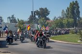 FARO - JULY 20: Motorcycle parade in the streets at the XXXIII - International Motorcycle Meeting in