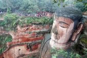 Leshan Giant Buddha In Mt.emei Of China