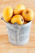 Loquat Fruit In Bucket